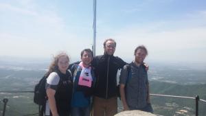 Hiking companions, Dinosaur Path, Seoraksan, Buddhist temple, hiking in Korea, south korea, jcu students, study abroad student travels