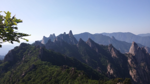 Dinosaur Path, Seoraksan, Buddhist temple, hiking in Korea, south korea, jcu students, study abroad student travels
