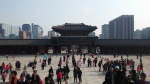 Gyeongbokgung Palace, Gwangwhamun, Dinosaur Path, Seoraksan, Buddhist temple, hiking in Korea, south korea, jcu students, study abroad student travels