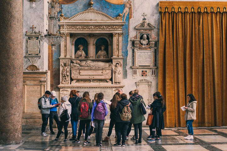 On-site class in a church