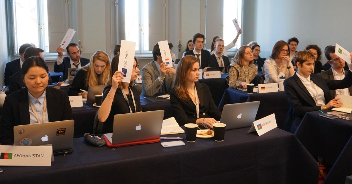 JCU's Model United Nations session