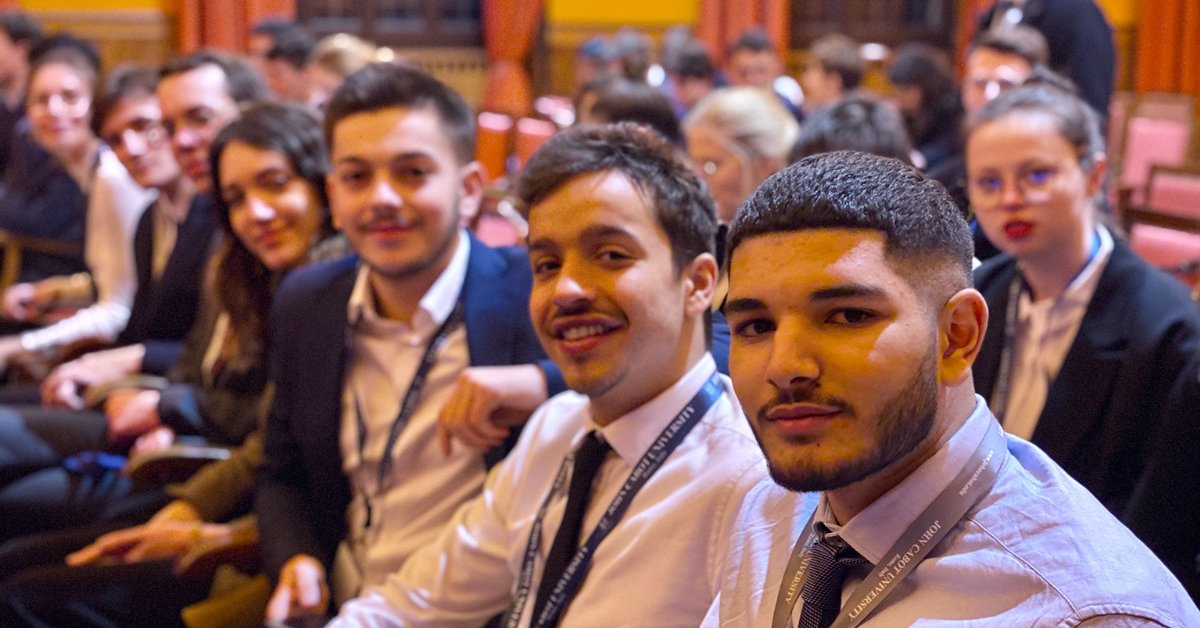 Group of John Cabot University Students smiling for the camera